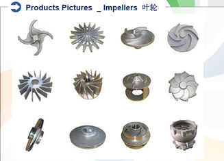 OEM Investment Casting Services , Precision Casting Services Impellers 6g-80KG Weight