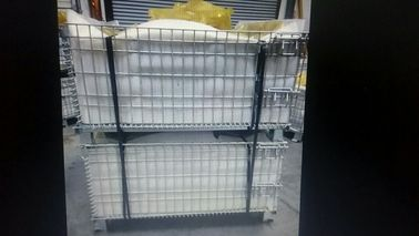 China Customized Warehouse Logistics Equipment , Wire Mesh Baskets 50x50mm Grid distributor